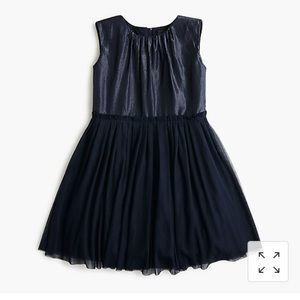 Crewcuts Girls' tulle-skirted dress Blue Shimmery